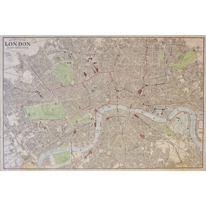 Reynolds' Map of London With the Recent Improvements, 1878 - Original antique folding map