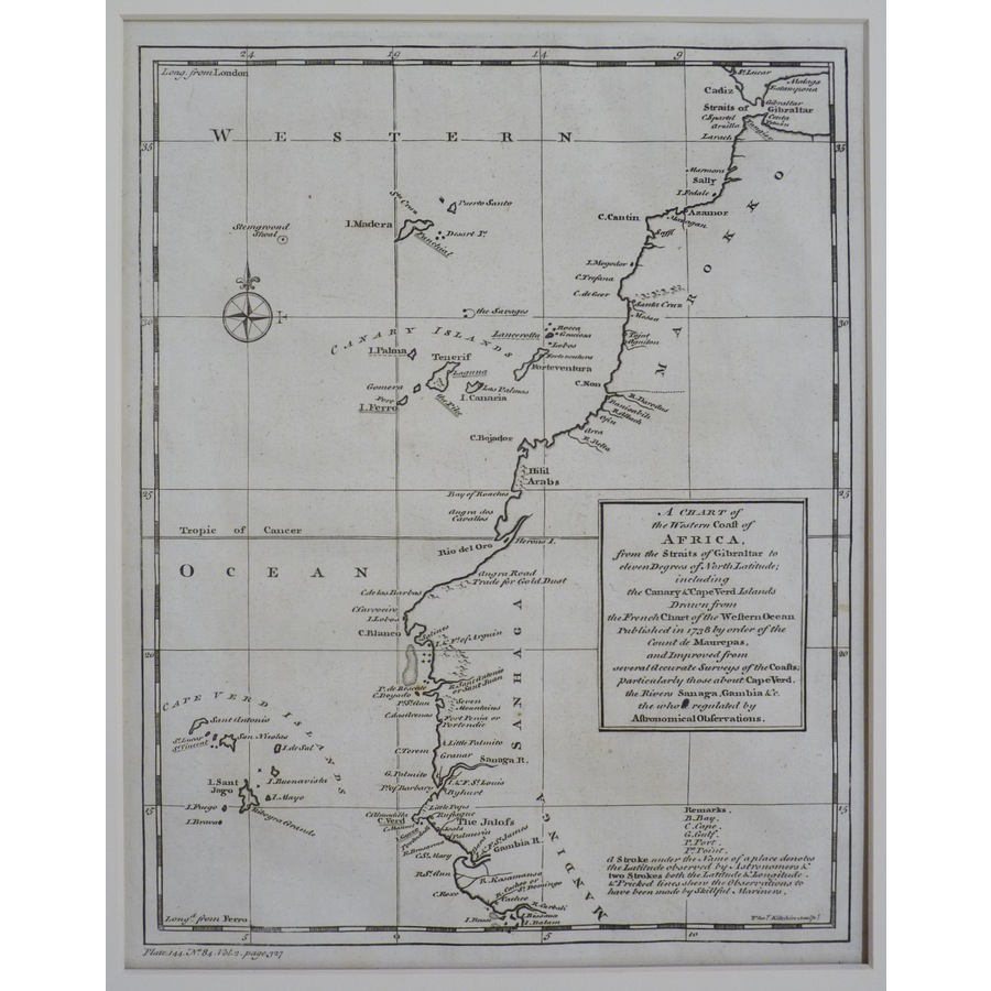 A chart of the western coast .   Storey's