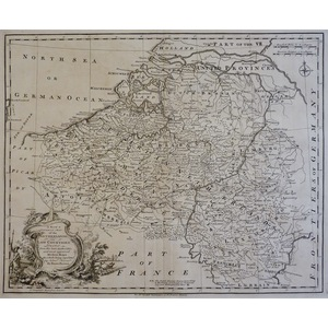 A New and Correct Map of the Netherlands or Low Countries - Bowen, 1751