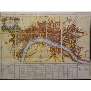 A Plan Of The City,s Of London, Westminster and Borough of Southwark with the new Additional Buil...