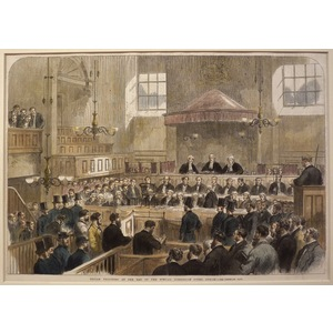Fenian prisoners at the bar of the special commission court, dublin