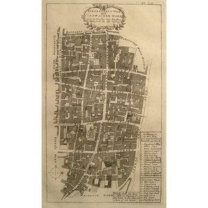 Stow, John (1525 - 1605) - Breadstreet ward and cordwainer ward  -  Original antique copper engra...