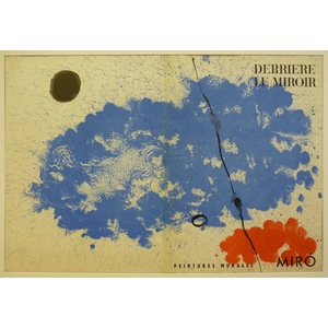 Cover for derriere le miroir - miro, 1961