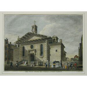 The west front of st. Pauls covent garden