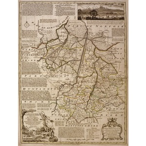 An accurate map of cambridgeshire - bowen, 1780