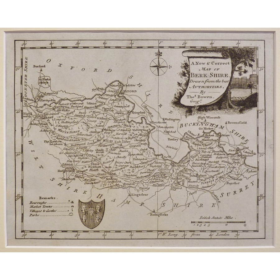 A new map of berkshire | Storey's