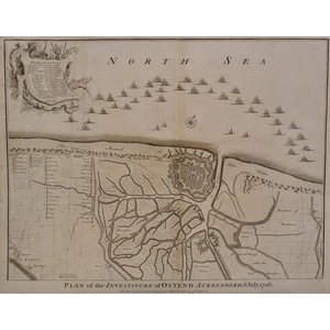 Plan of the investiture of osten surrendered, 6 july 1706