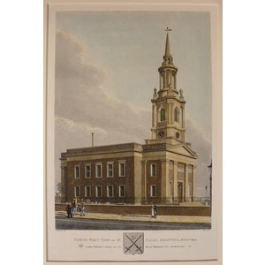 North west view of st. Pauls, shadwell, built 1820