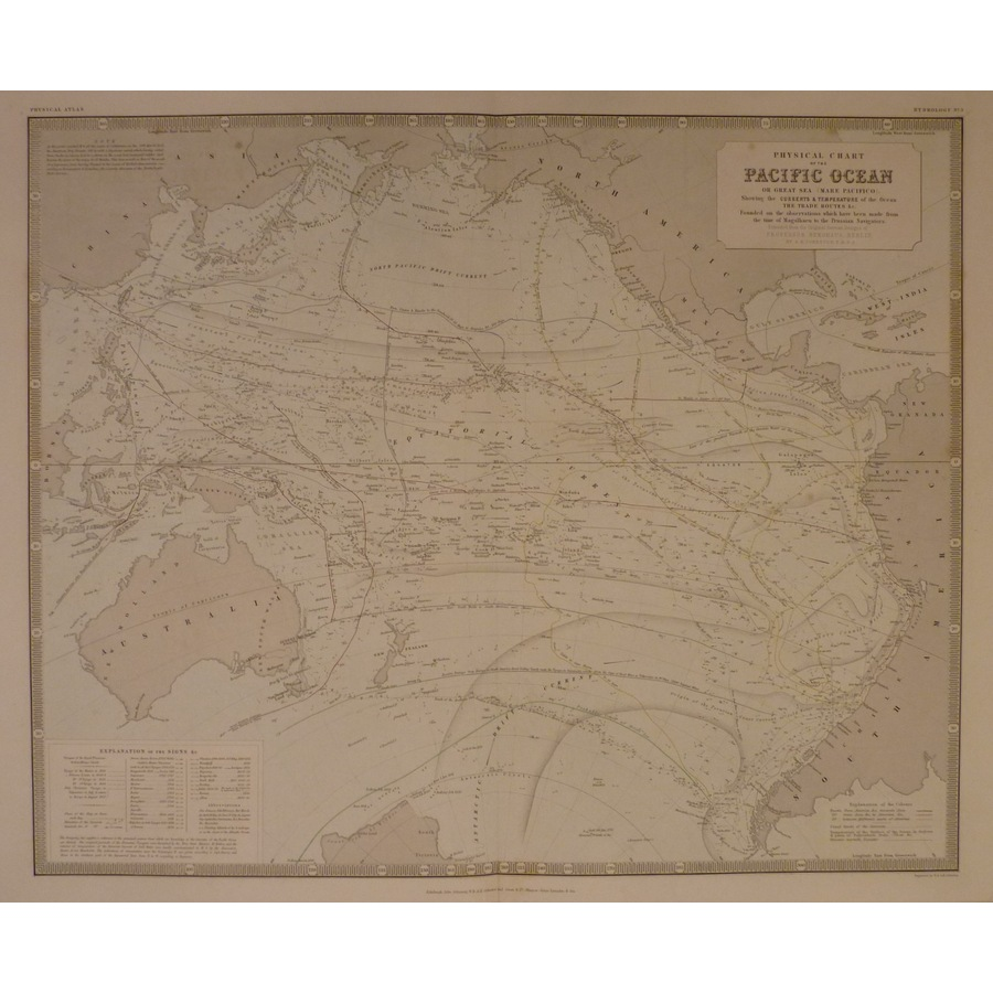 Physical chart of the pacific. | Storey's