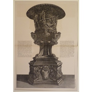 Drawing of an ancient marble vase with pedestal. Piranesi