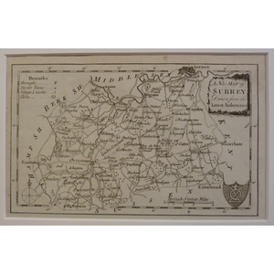 A new map of surrey - kitchin, 1780
