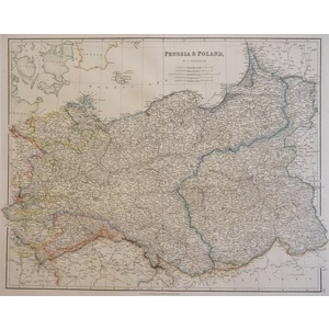 Prussia and Poland - Arrowsmith, 1834