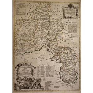 An accurate map of oxfordshire - bowen, 1780