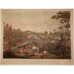 Rangoon - the storming of one of the principal stockades on its inside on the 8th of july 1824