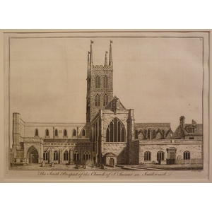 The south prospect of the church of st saviour in southwark