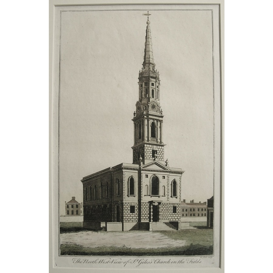 The north west view of st. Gi. | Storey's