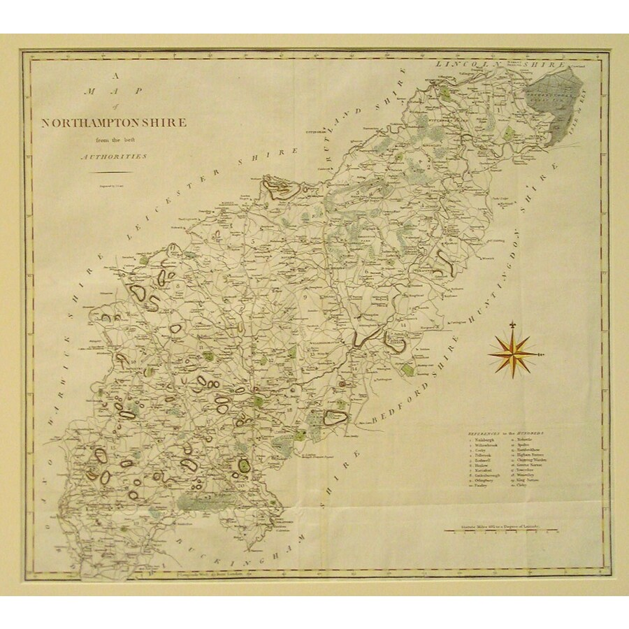 A map of northhamptonshire   Storey's