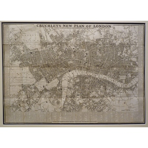 Cruchley's New plan of London. Original antique map. Published 1831.