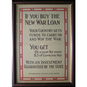 If you buy the new war loan your country gets funds to carry on and win the war. You get 4 and 6 ...
