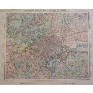 Geological map of the environs of london
