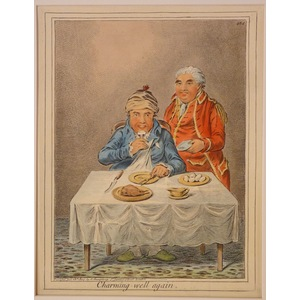 Charming well again Original Antique Copper Engraving By James Gillray, 1851