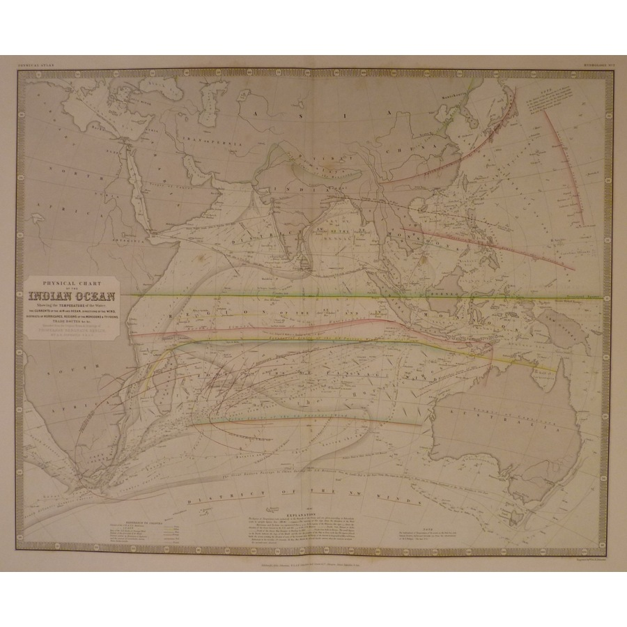 Physical chart of the indian . | Storey's