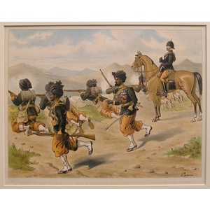 The 29th bombay native infantry (duke of connaughts own belooch reg) field firing, (marching order)