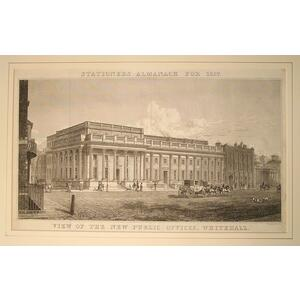 View of the new public offices, whitehall