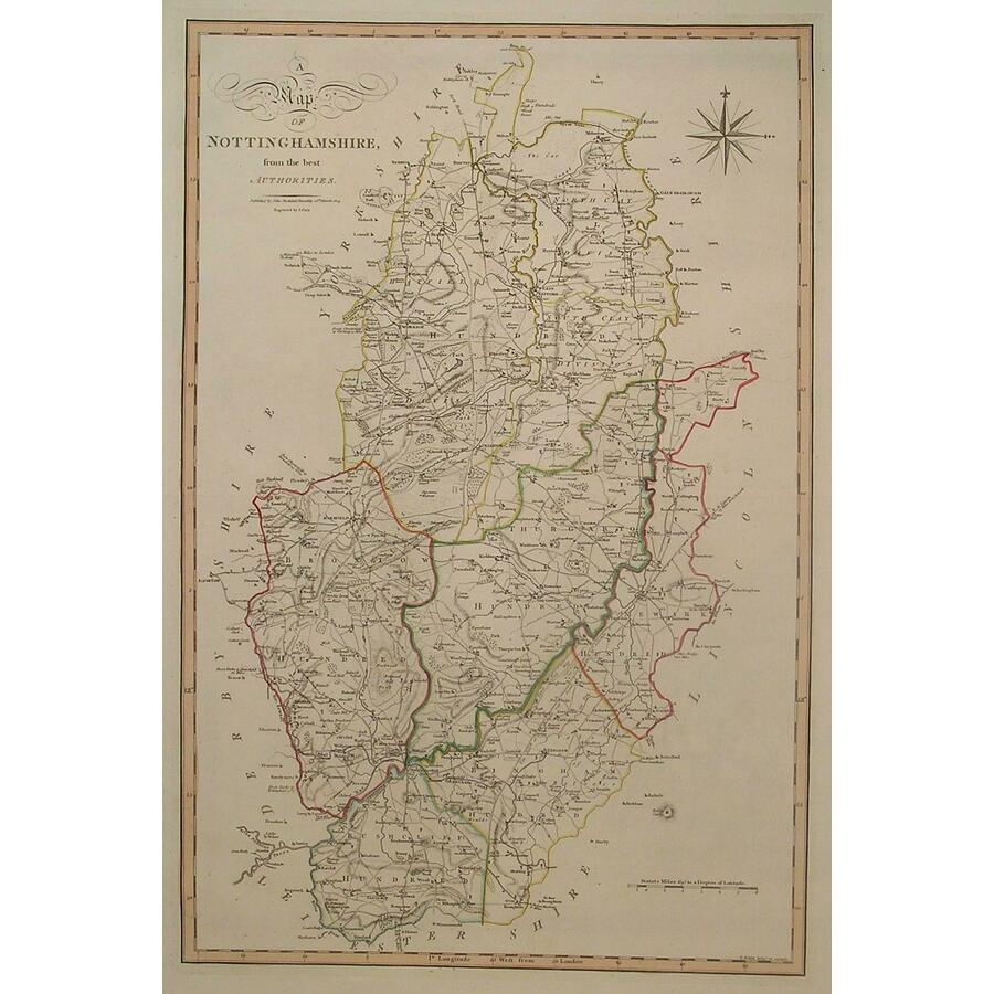 A map of nottinghamshire | Storey's