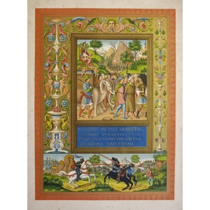 Illuminated roman history - in the library of the arsenal of paris - 16th century