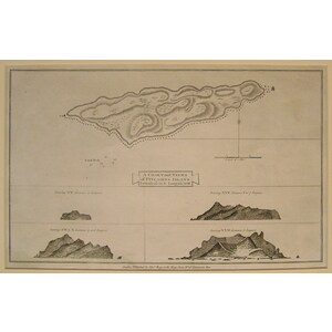 A chart and views of pitcairn islands