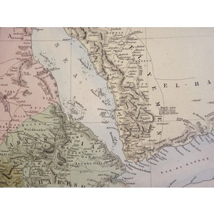 Arabia with Egypt, Nubia and Abyssinia - Original hand coloured antique map. Engraved by J and C ...