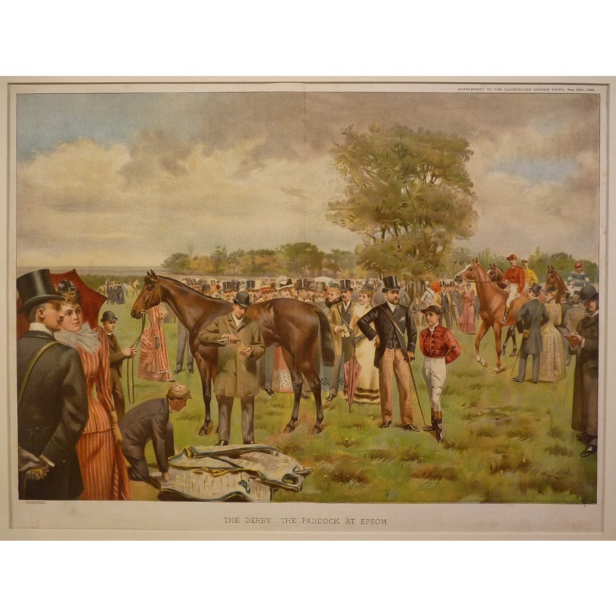 The derby: the paddock at eps. | Storey's