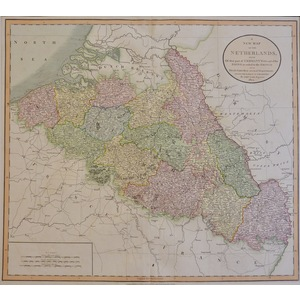 A New Map of the Netherlands - Cary, 1804