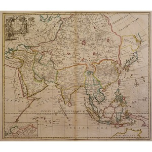 A new map of asia from the latest observations - john senex, 1721