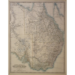 South australia, new south wales, victoria & queensland - johnston 1886