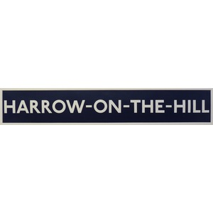 London underground station signs - harrow-on-the-hill