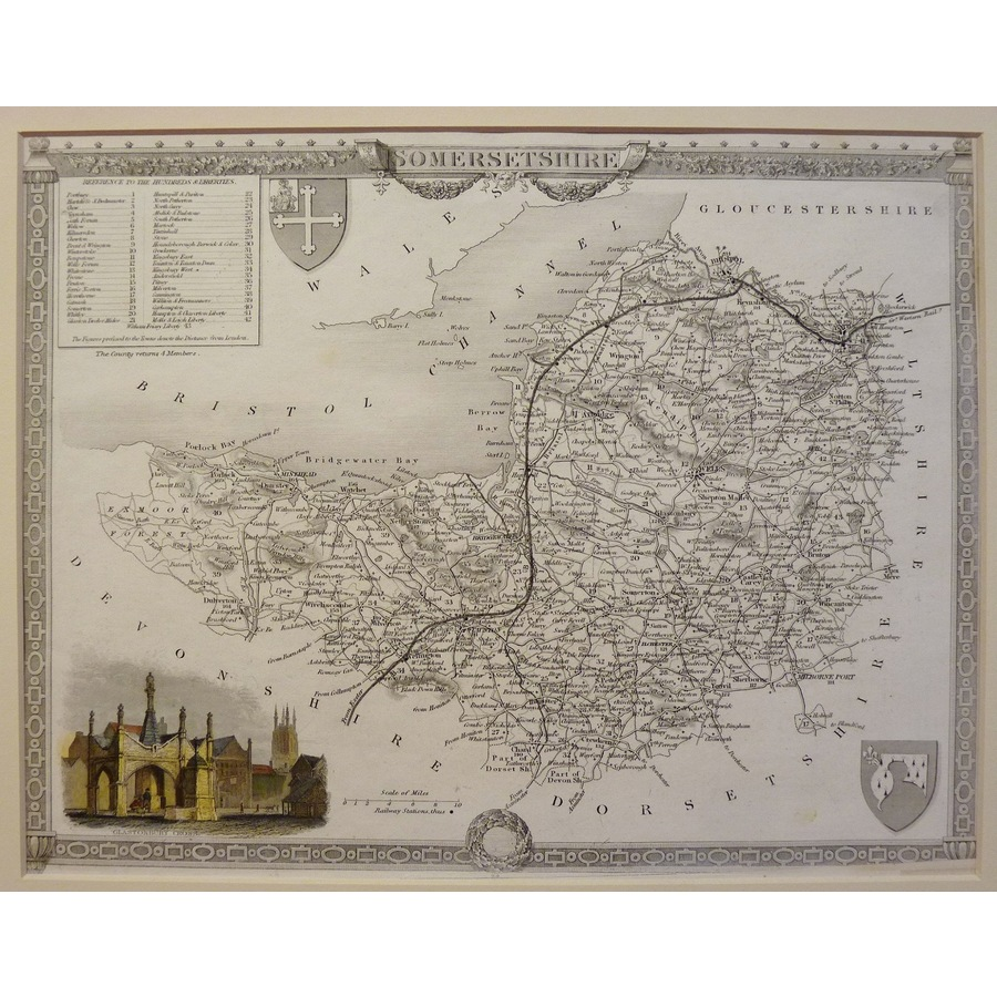 Somersetshire - t. Moule, 1843 | Storey's