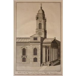 The north west prospect of the parish church of st george hanover square