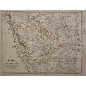 India - sheet ii - madras presidency, mysore - sduk, 1844