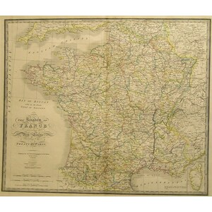 The Kingdom of France - J. Wyld, 1838