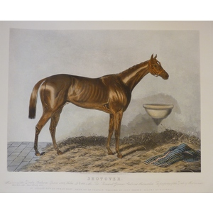 Shotover.  Handcoloured Copper Engraved Print After Hunt. Reissued from the original plate