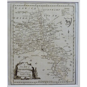 A new map of oxfordshire