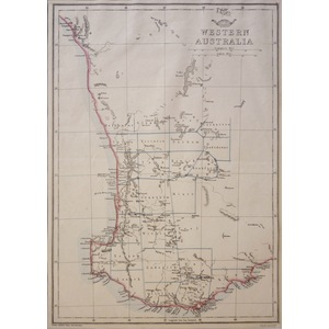 Western Australia - Original antique map by E. Weller, 1863