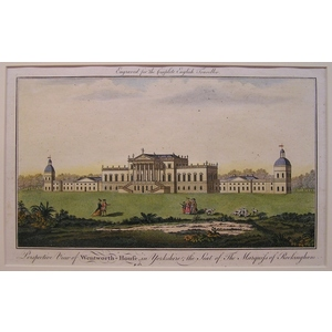 Perspective view of wentworth-house, in yorkshire; in the seat of the marquis of rockingham