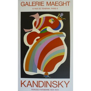 KANDINSKY, WASSILY ; LA FORME ROUGE. Original Exhibition Poster. Limited to 500 copies. Second Ed...