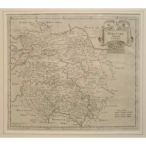 Morden ; Robert (1650 – 1703) Herefordshire. Original antique map. First impression  Is well know...