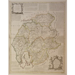 A new map of the counties of cumberland and westmoreland - bowen, 1780