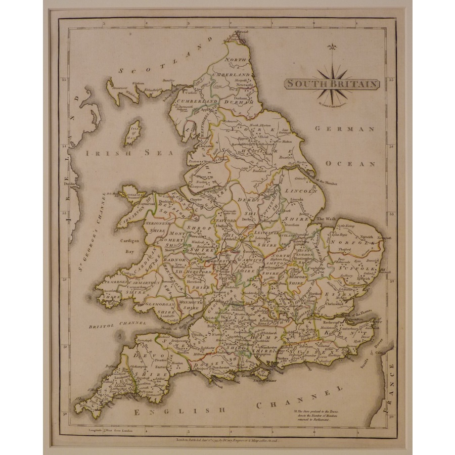 South britain - j. Cary, 1793 | Storey's