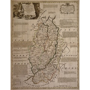 A accurate map of nottinghamshire - bowen, 1780
